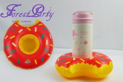 Doughnut inflatable cup holder